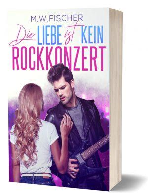 Buch-Mockup Die Liebe ist kein Rockkonzert
